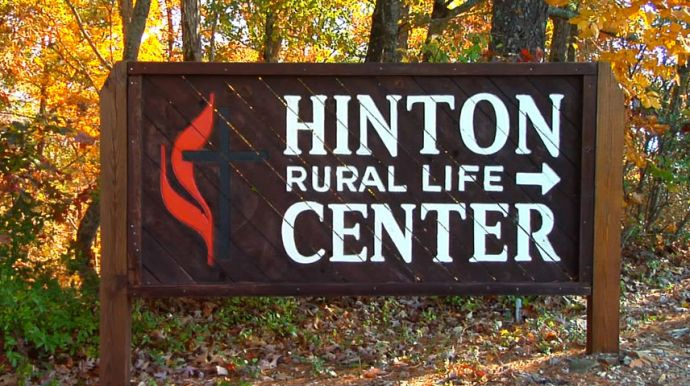 Hinton Entrance Sign